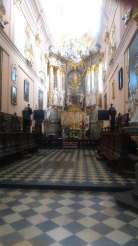 ołtarz w Bazylice miechowskiej